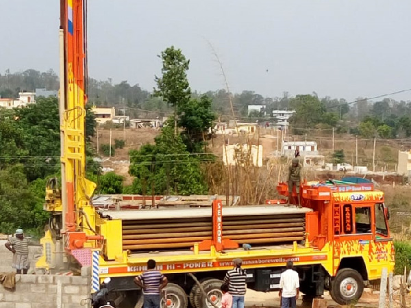 borewell drilling process